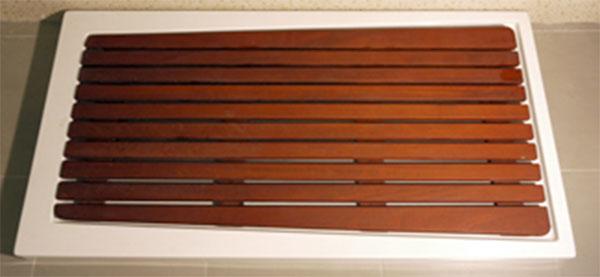 Suelos en madera para duchas