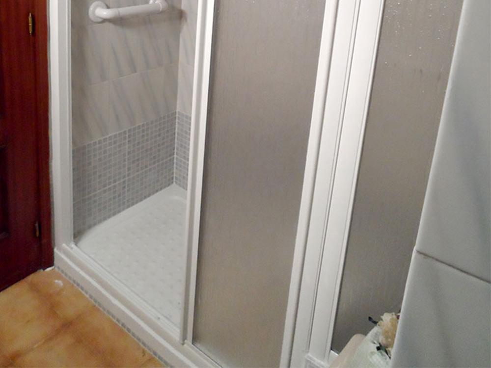 Puerta simple en cristal opaco para ducha