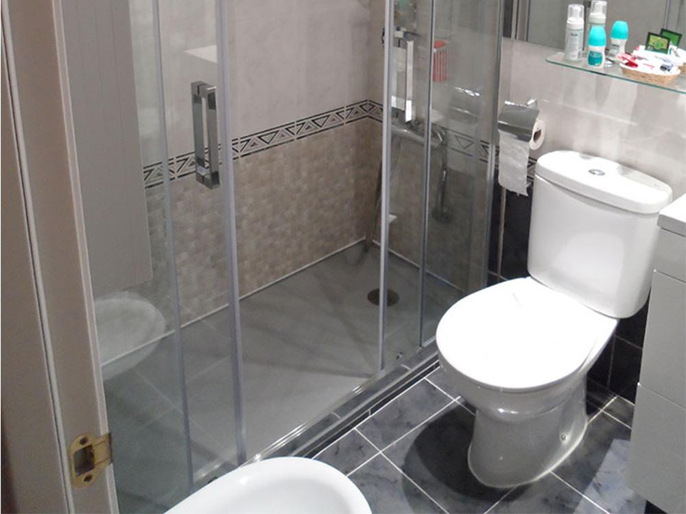 Puerta doble deslizante para baño