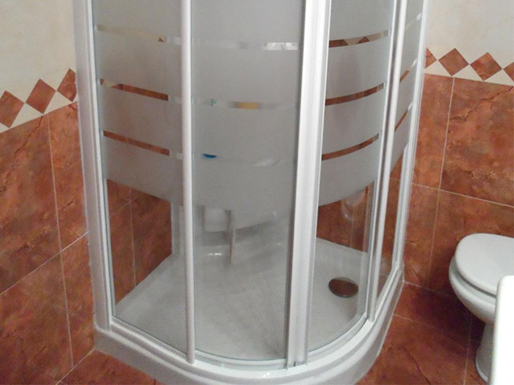 Mampara de puertas curvas para ducha