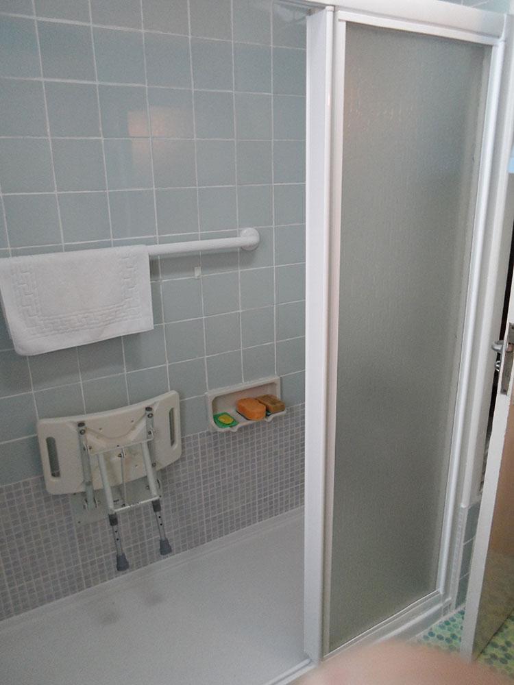Puerta deslizante opaca para ducha