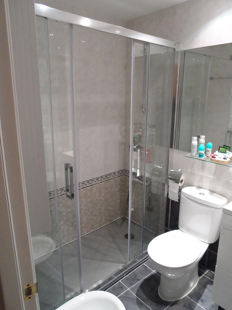 Puerta doble para ducha