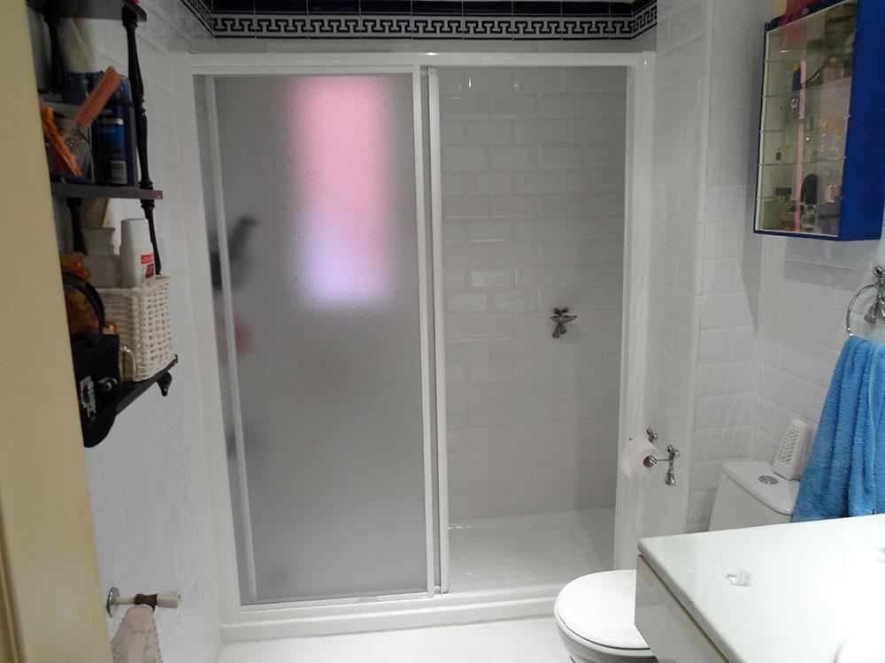 Mampara de cristal para duchas